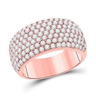 Round Diamond Pave Anniversary Ring 1-7/8 Cttw 14KT