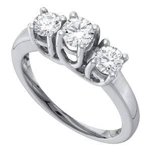Diamond 3-stone Bridal Wedding Engagement Ring 1/2 Cttw