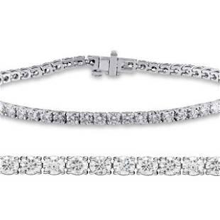 Natural 3.01ct VS2-SI1 Diamond Tennis Bracelet 18K