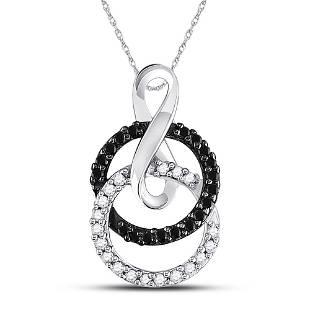 Round Black Color Enhanced Diamond Double Circle