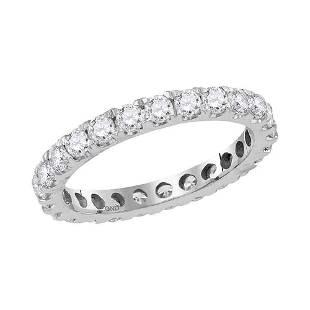 Round Diamond Eternity Wedding Anniversary Ring 1-1/2