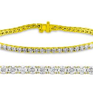 Natural 2ct VS2-SI1 Diamond Tennis Bracelet 14K Yellow