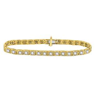 Round Diamond Fashion Tennis Bracelet 3/4 Cttw 10KT