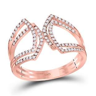 Round Diamond Modern Fashion Band Ring 1/4 Cttw 10KT