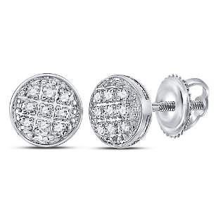 Round Diamond Circle Cluster Earrings 1/20 Cttw 10KT