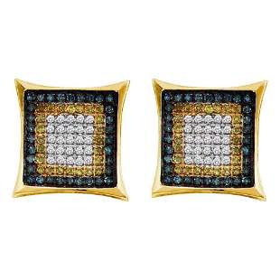 Yellow Blue Color Enhanced Diamond Square Cluster