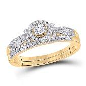 Diamond Bridal Wedding Ring Band Set 1/3 Cttw 10KT