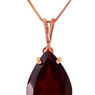 Genuine 5 ctw Garnet Necklace 14KT Rose Gold -