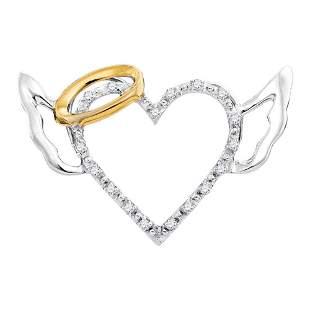 Round Diamond Devil Horn Naughty Heart Pendant 1/20