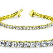 Natural 4ct VS2-SI1 Diamond Tennis Bracelet 18K Yellow