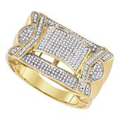 Round Diamond Domed Cluster Ring 5/8 Cttw 10KT Yellow