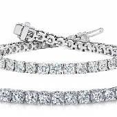 Natural 10ct VS2-SI1 Diamond Tennis Bracelet 14K White