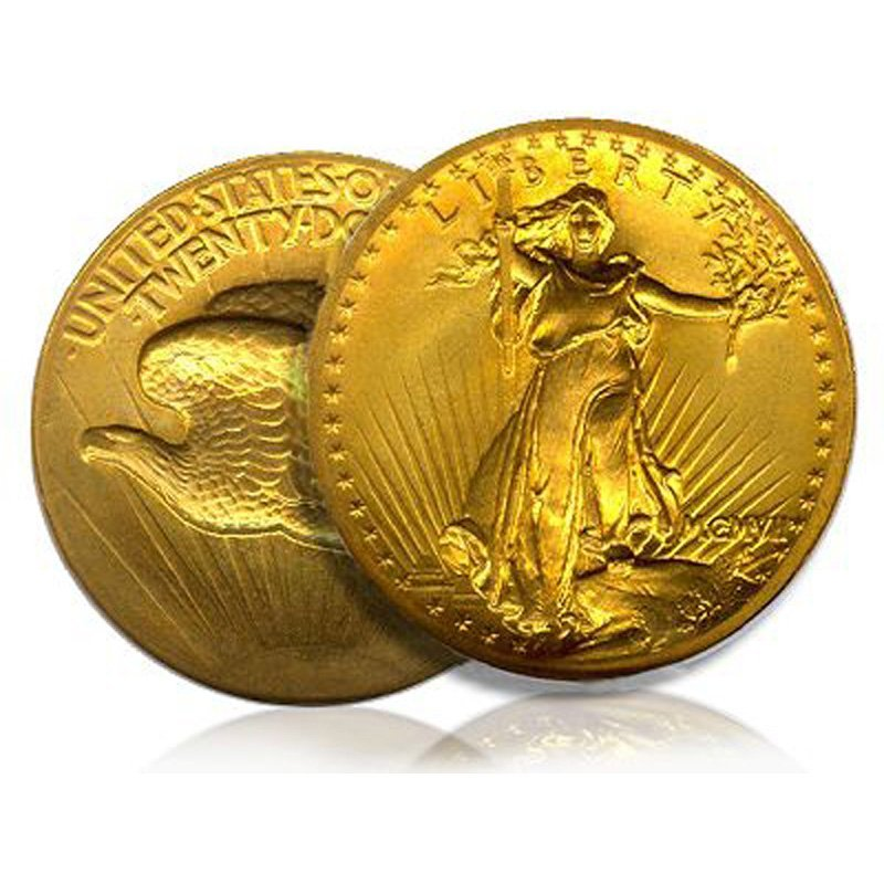 $20 St Gaudens Gold - Double Eagle - 1907 to 1933 - Ran