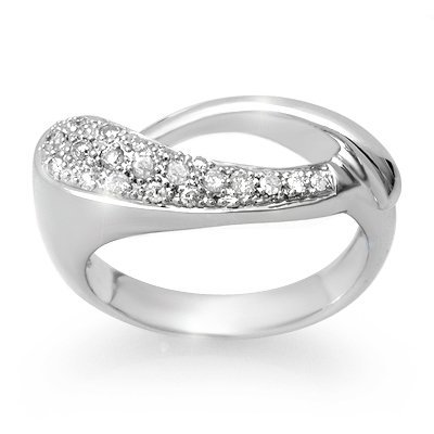 Natural 0.20 ctw Diamond Ring 10K White Gold