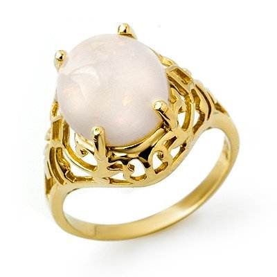 Genuine 2.55 ctw Opal Ring 10K Yellow Gold