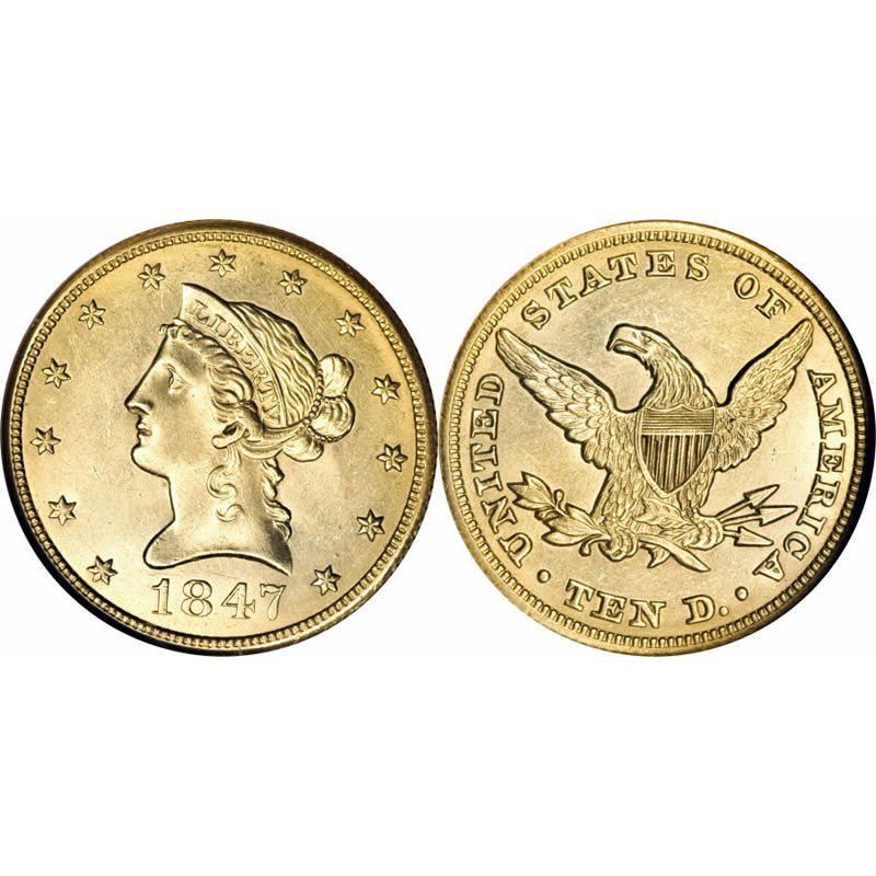 $10 Liberty Gold - Eagle - 1838 to 1907 - Random date