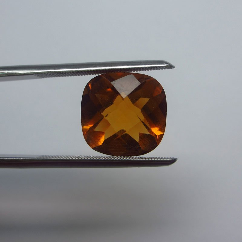 Loose Natural Citrine Cushion 12mm x 12mm VERY NICE col