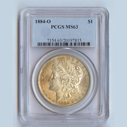 1884 Morgan Silver Dollar MS63 PCGS Certified - P1884