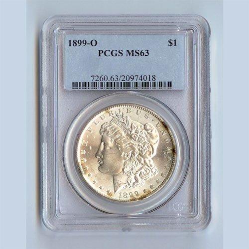 1899 Morgan Silver Dollar MS63 PCGS Certified - P1899