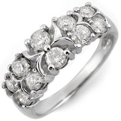 Natural 1.25 ctw Diamond Bridal Ring 10K White Gold
