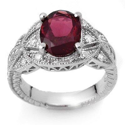 Genuine 3.25ctw Pink Tourmaline & Diamond Ring 10K Gold