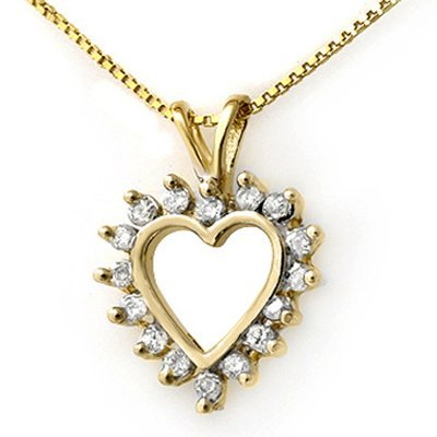 Natural 1.0 ctw Diamond Pendant 10k Gold