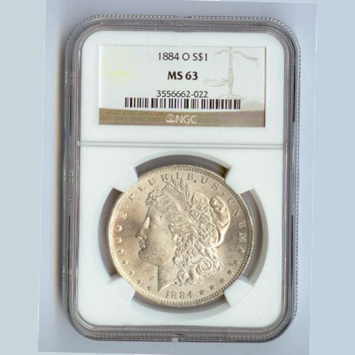 1884 Morgan Silver Dollar MS63 NGC Certified - N1884
