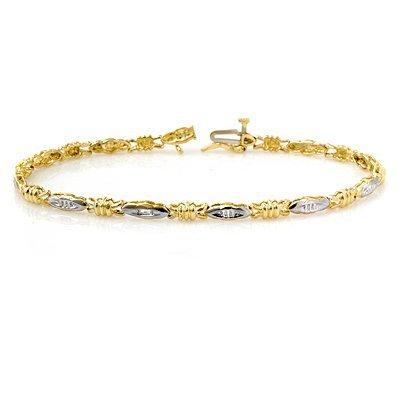 Natural 0.03 ctw Diamond Bracelet 10K Yellow Gold