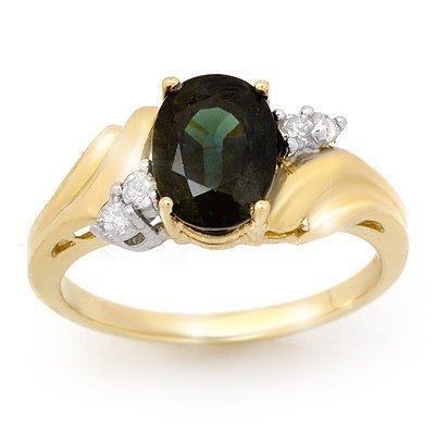 Genuine 1.67ctw Sapphire & Diamond Ring 10K Yellow Gold