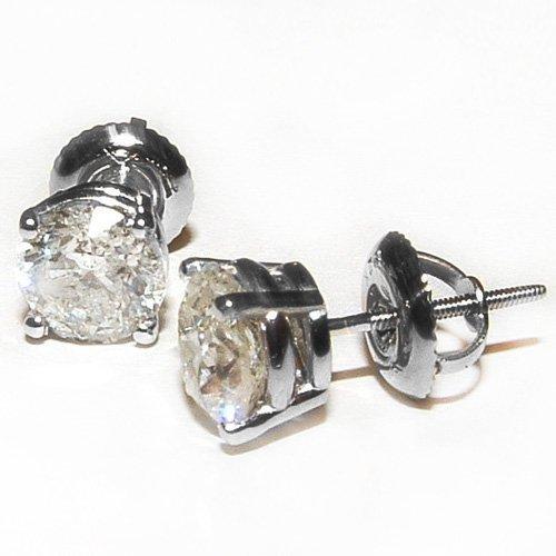 14KT White Gold 1.60ctw Natural Diamond Stud Earrings