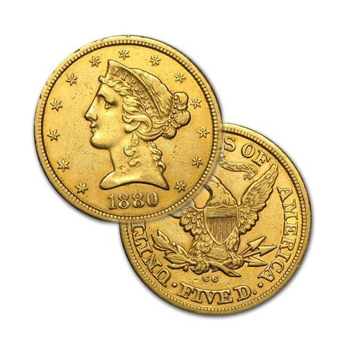 $5 Liberty Gold - Half Eagle - 1839 to 1908 - Random da