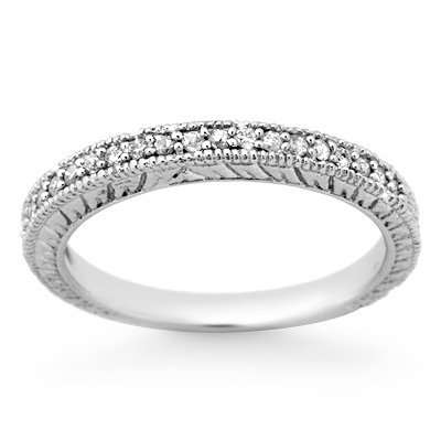 Natural 0.20 ctw Diamond Ring 14K White Gold