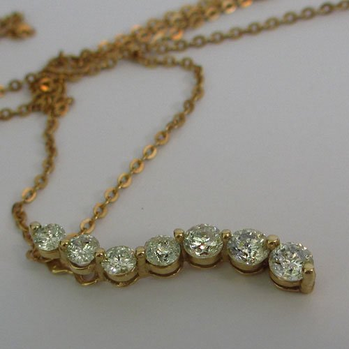 14KT Gold Journey Necklace with 0.80ct Natural Diamonds