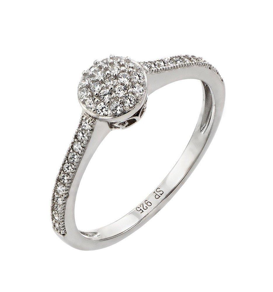 Silver Rings CZ .925 Ladies Sterling Jewelry str00918