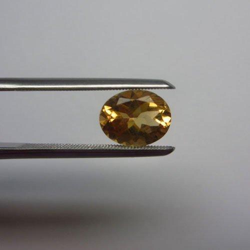 Loose Natural Citrine Oval 15mm x 13mm LIGHT ORANGE