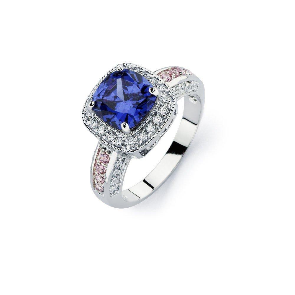Silver Rings CZ .925 Ladies Sterling Jewelry bgr00746