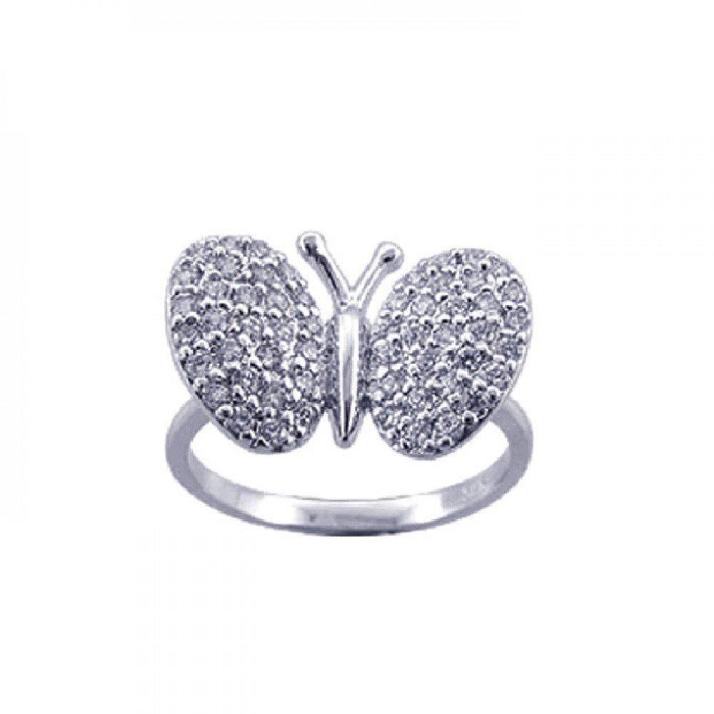 Silver Rings CZ .925 Ladies Sterling Jewelry str00570