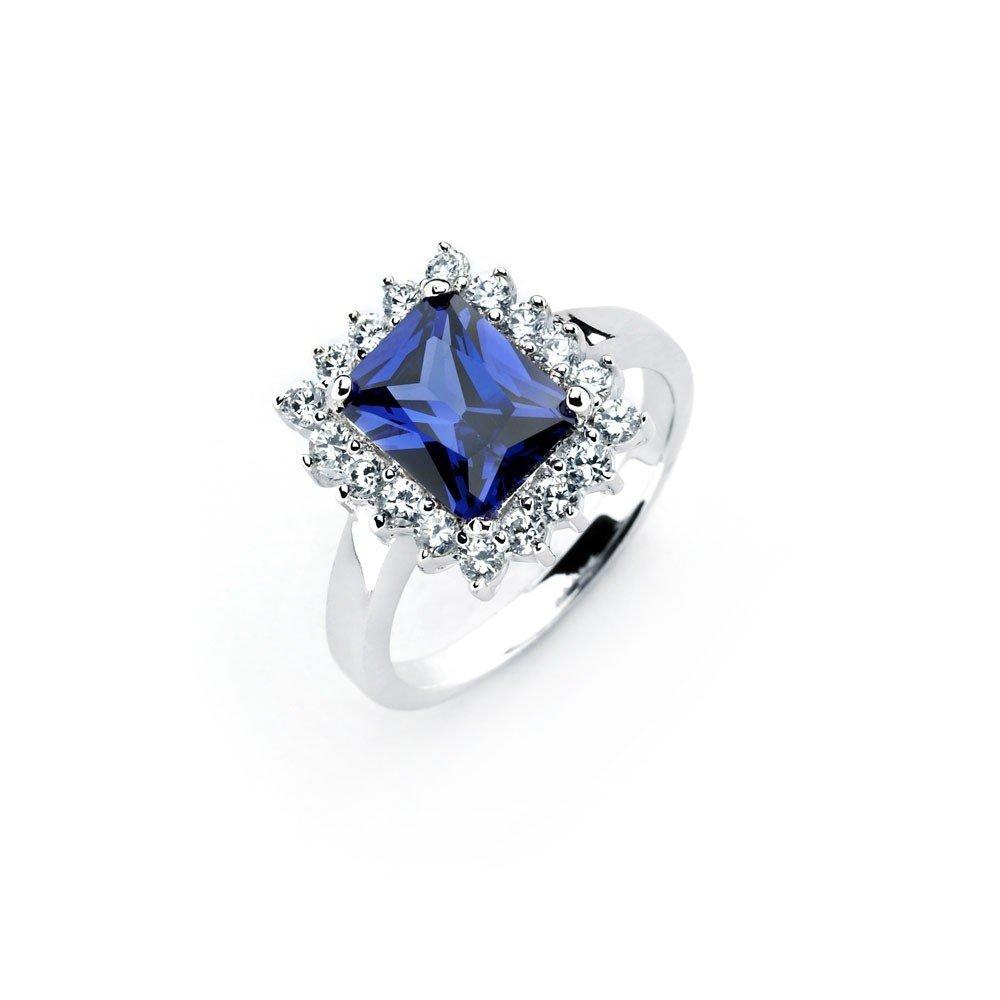 Silver Rings CZ .925 Ladies Sterling Jewelry bgr00745