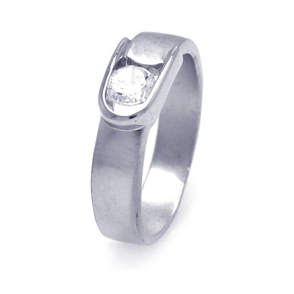 Silver Rings CZ .925 Ladies Sterling Jewelry aar0026