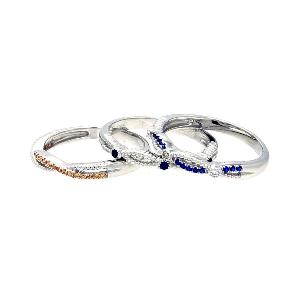 Silver Rings CZ .925 Ladies Sterling Jewelry acr00049