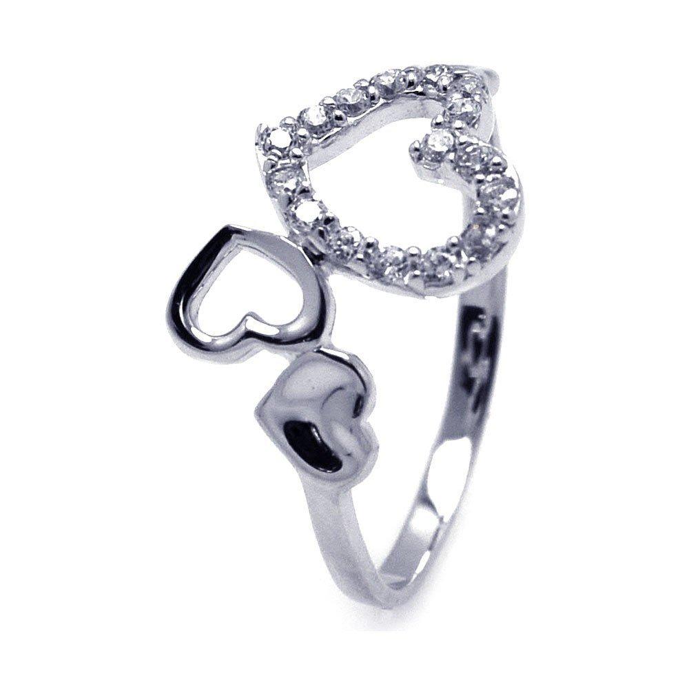 Silver Rings CZ .925 Ladies Sterling Jewelry aar0075