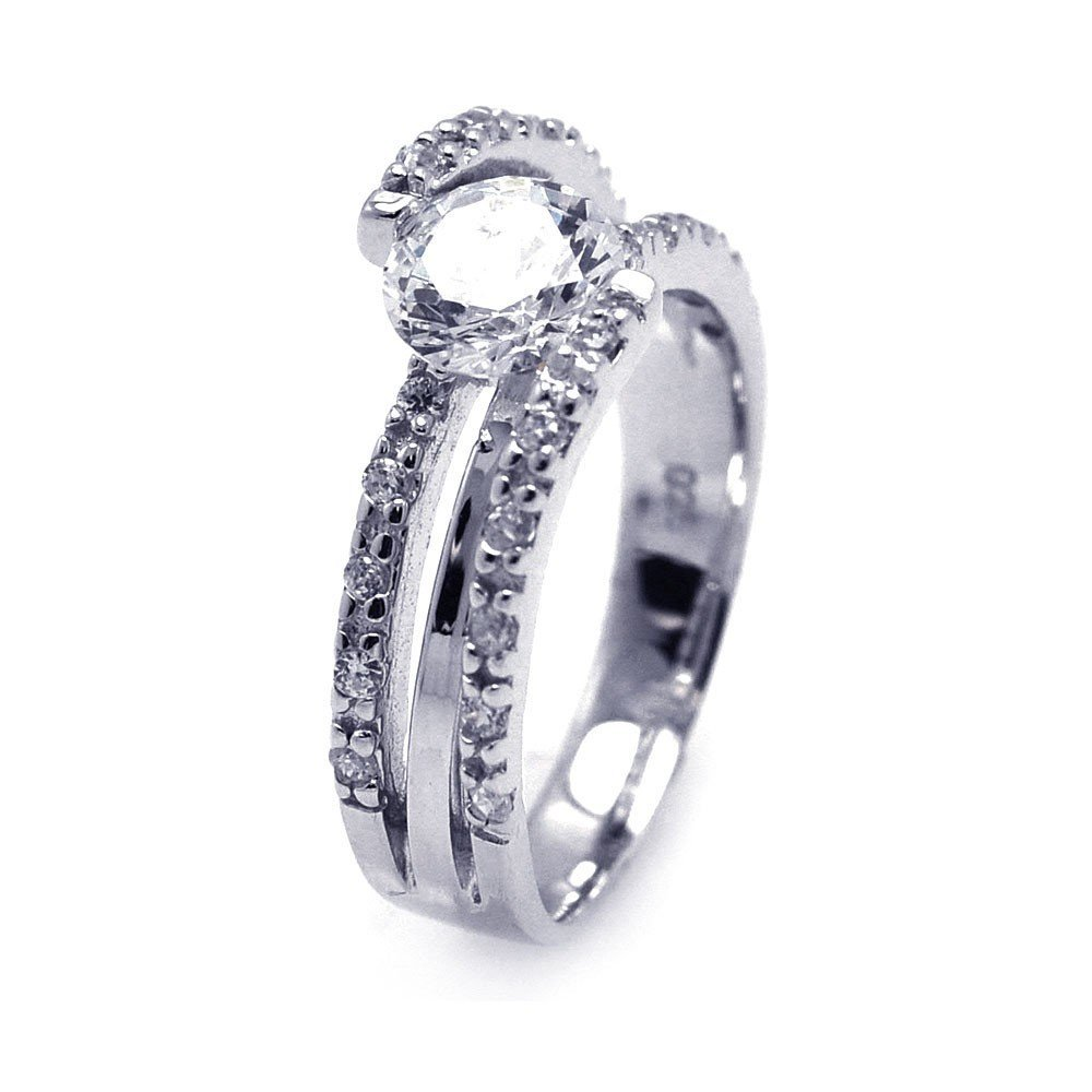 Silver Rings CZ .925 Ladies Sterling Jewelry aar0066