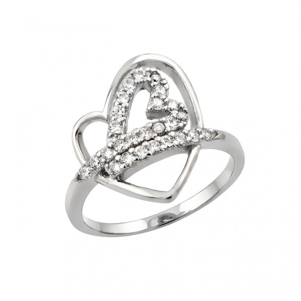 Silver Rings CZ .925 Ladies Sterling Jewelry str00970