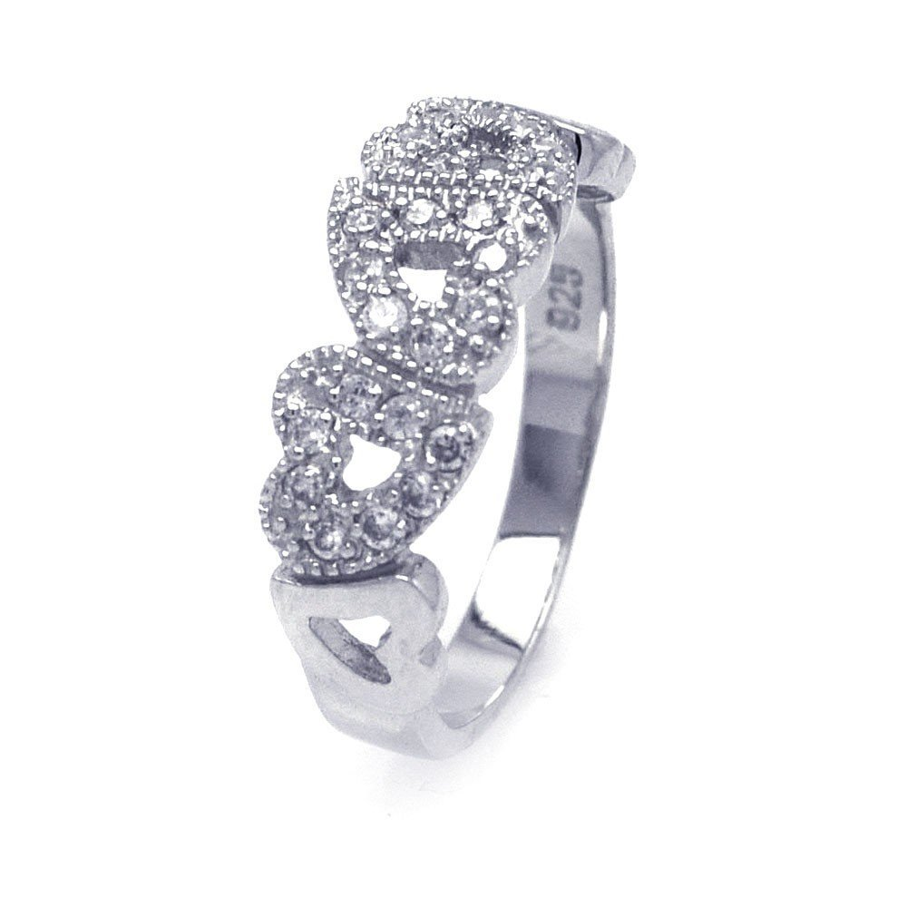 Silver Rings CZ .925 Ladies Sterling Jewelry aar0013