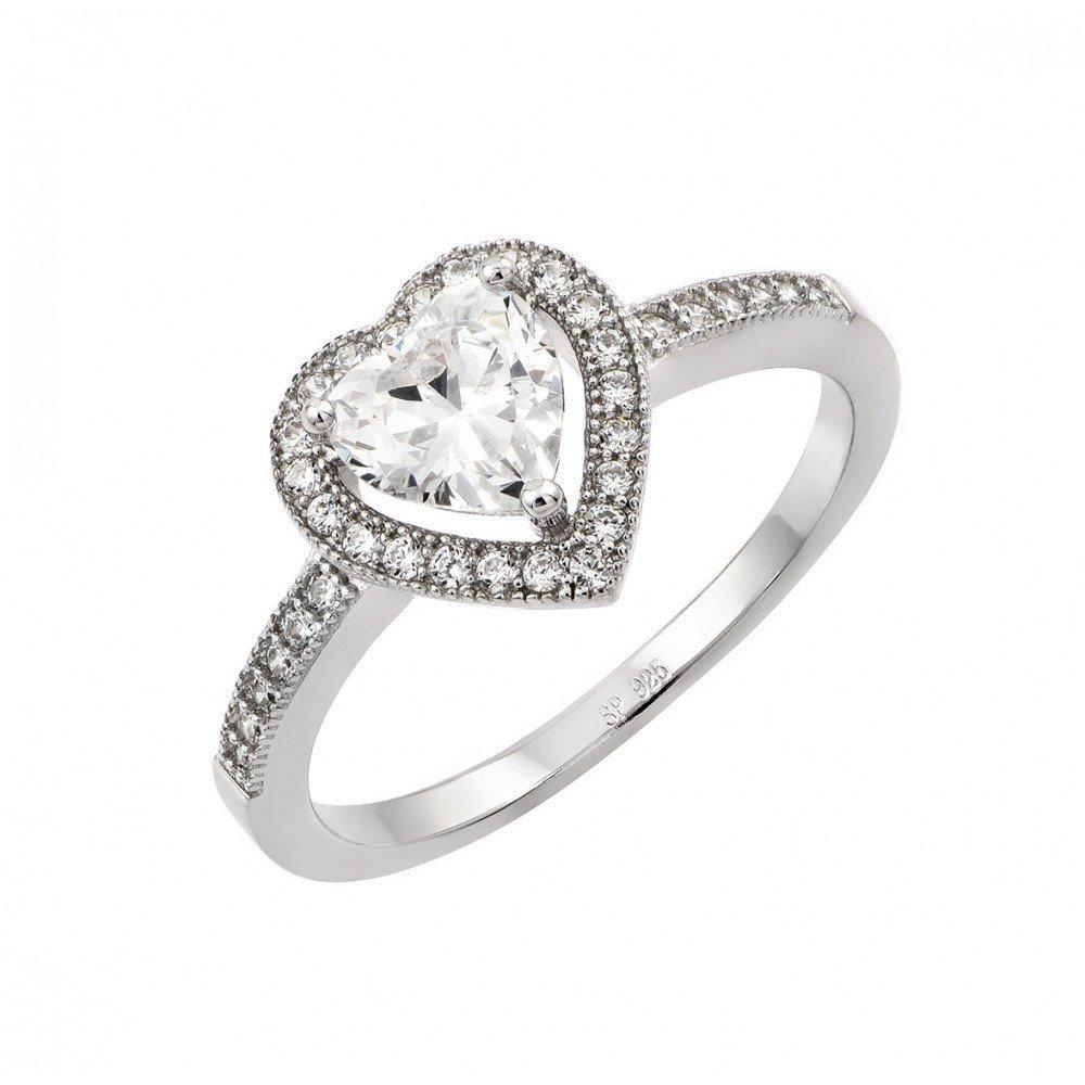 Silver Rings CZ .925 Ladies Sterling Jewelry str00937
