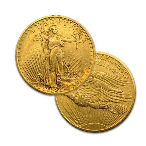 $20 St Gaudens Gold - Double Eagle - 1907 to 1933 -
