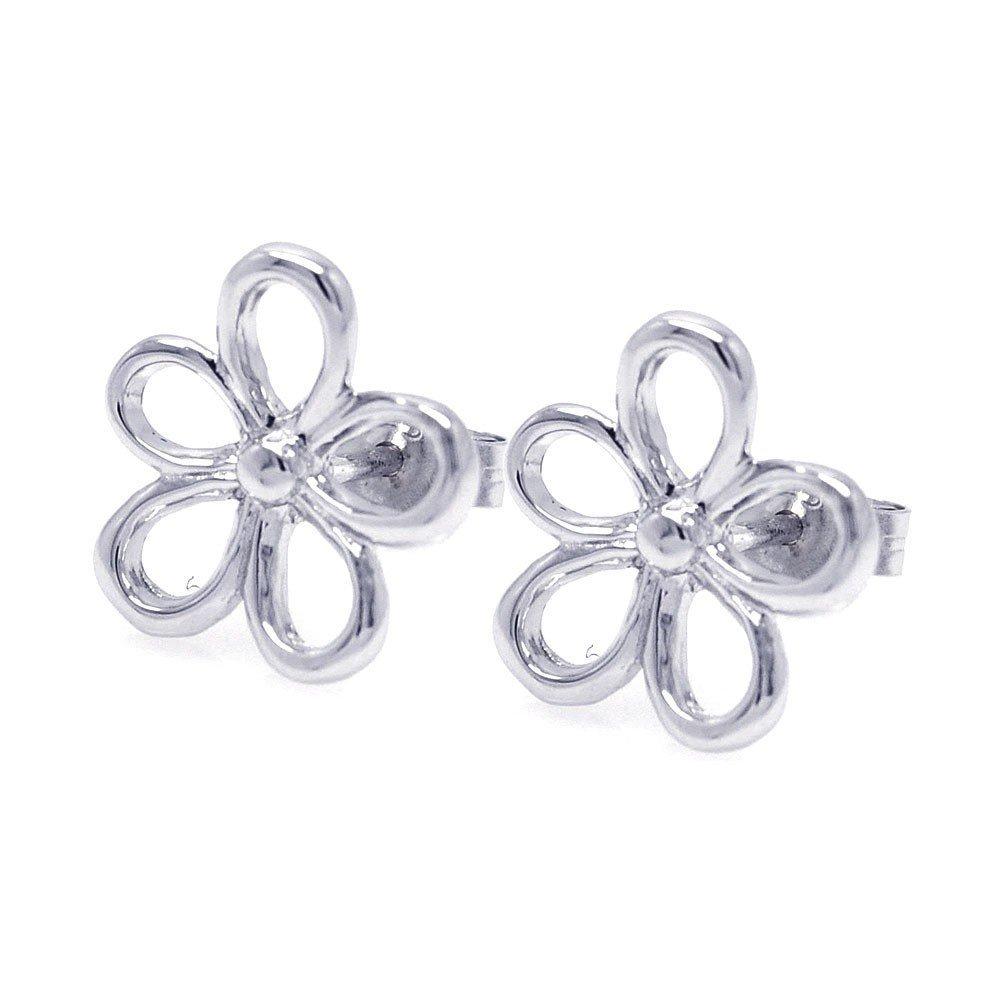 Silver CZ Stud Earrings .925 Sterling Jewelry ste00748