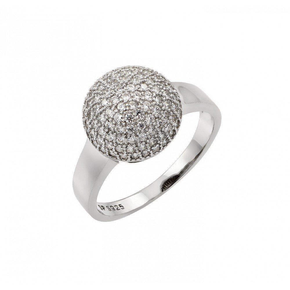 Silver Rings CZ .925 Ladies Sterling Jewelry str00939