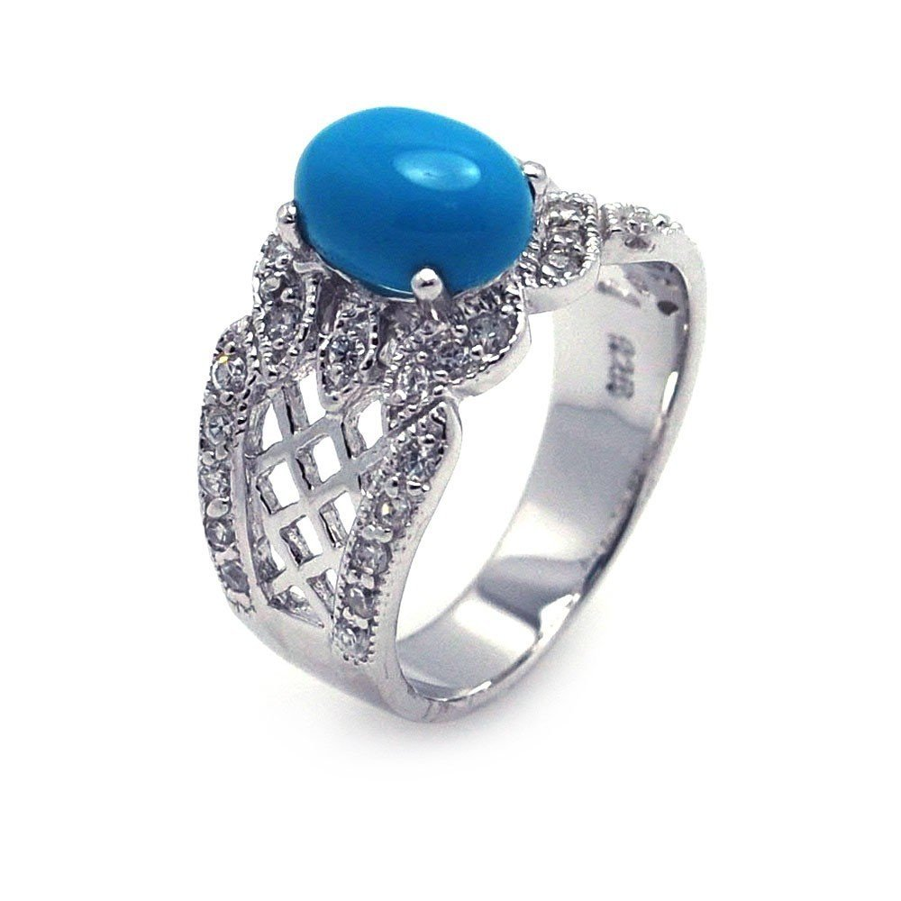 Silver Rings CZ .925 Ladies Sterling Jewelry aar0085