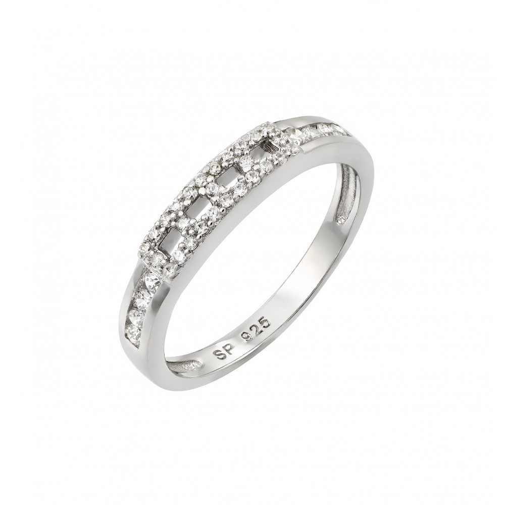 Silver Rings CZ .925 Ladies Sterling Jewelry str00945